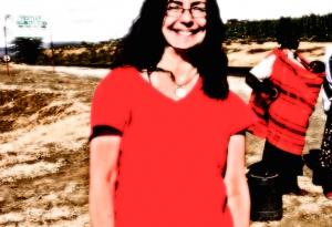 Jane in Kenya in 2007