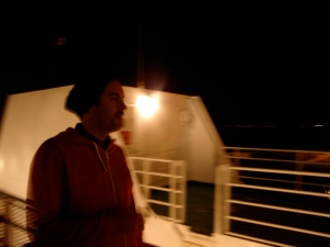 Here is a photo of me on the ferry from Nova Scotia to port-aux-basques, NFLD.