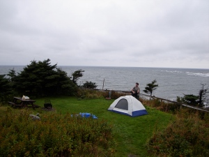 Another campsite we found. Right on the ocean!