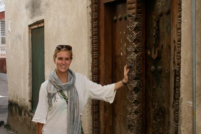Daphne in Zanzibar.