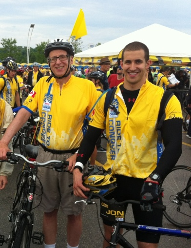 Jon during the Ride to Conquer Cancer