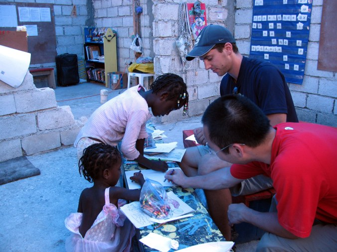 Kevan volunteering in Haiti