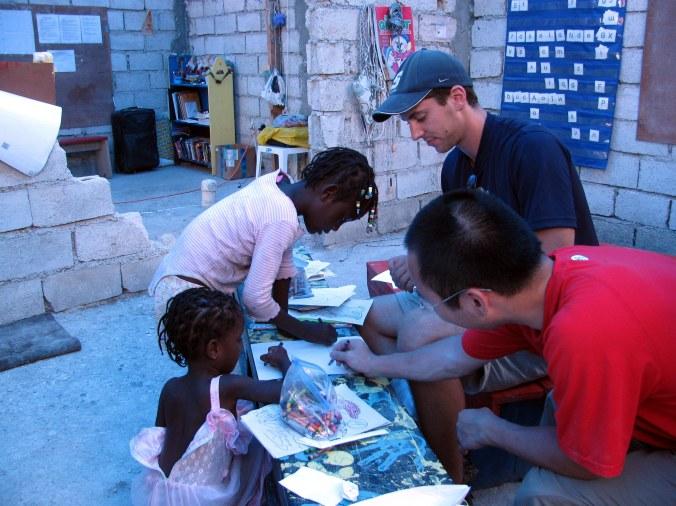 Kevan volunteering in Haiti