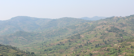 Rwanda - Land of a thousand hills.