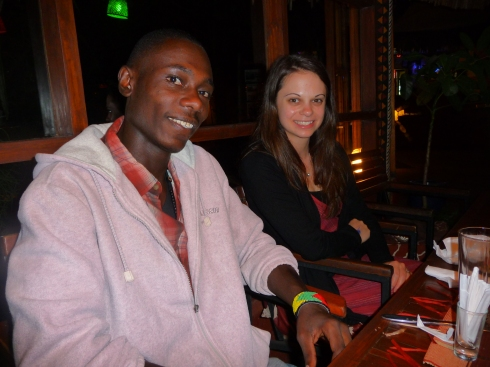 Kristy and Michael Gombe at the Arushavolunteer's debrief dinner