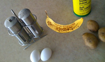What I will be eating for the day. Pardon the photoshoped banana's. Ran out just before taking this photo