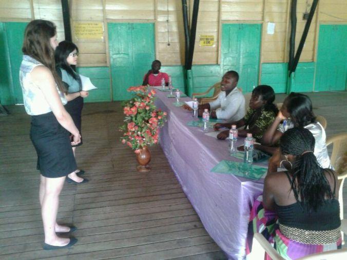 Stephanie and Kayla Leading a Workshop