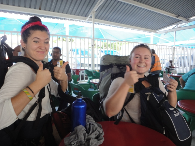 Ruby Sniderman and Olivia Marshman on board the Kilimanjaro II