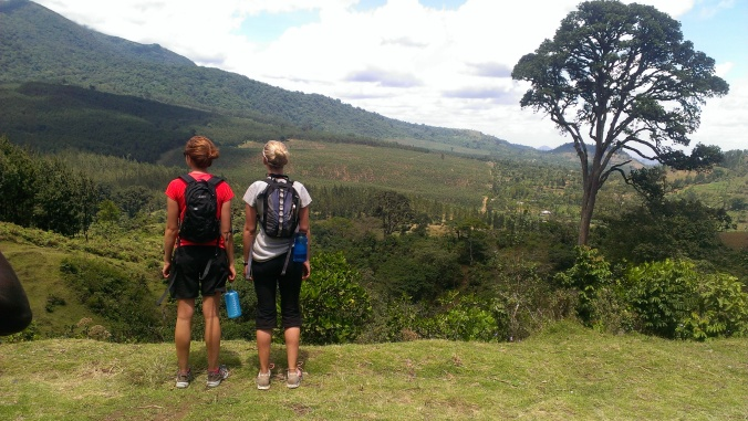 Admiring the view on our hike up Mount Meru
