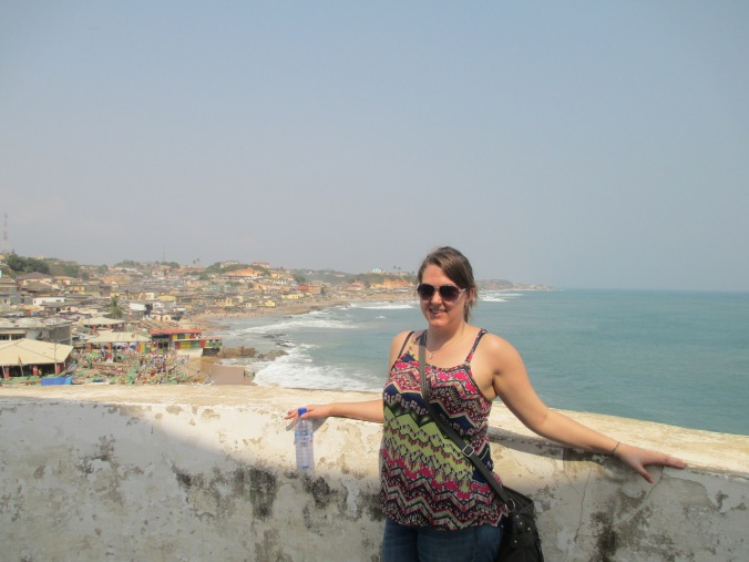 Erica inside the Cape Coast Castle