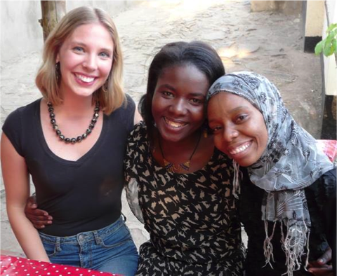 Danielle, Pascalina (office manager) and Chuki (social worker)