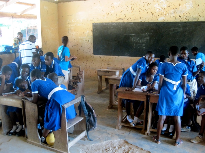 Students at Jumapo JHS engage in a brainstorming session on issues that they can advocate for in their communities