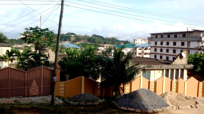 The view of Takoradi from our home-stay