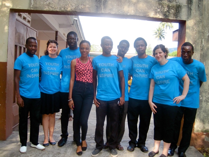 The YCI Koforidua team - Shalibu, Nicole, William, Vera, Theo, Joe, Emmanuel, Judy and Reindolf